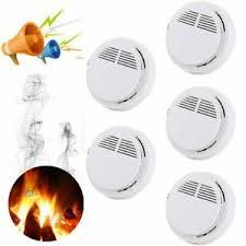 <b>5Pcs</b> Wireless <b>Smoke Detector</b> Alarm <b>Fire</b> Detector Sensor System ...