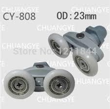 Outer diameter 25MM <b>8pcs</b> Glass <b>shower</b> door roller <b>pulley</b> ...