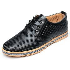NEW Outdoor <b>Mens</b> Lace Up <b>Leather Breathable</b> Casual Athletic ...