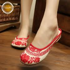 Tianrui Crown Girls Chinese Buckle Embroidery Mary-Jane <b>Shoes</b> ...