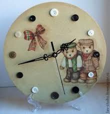 """<b>Часы</b> """"<b>Мишки</b>-малышки"""" – заказать на Ярмарке Мастеров ..."""