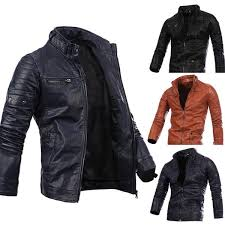 <b>2019 Spring New</b> Fashion Mens Designer PU <b>Leather</b> Jackets Best