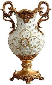 Handmade <b>Resin</b> Flower <b>Vase</b> Jar 49cm Tall <b>European</b> Vintage ...