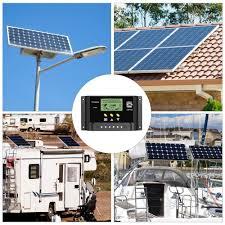 LCD Display ALLPOWERS 30A <b>Solar</b> Charger Controller <b>12V</b>/<b>24V</b> ...