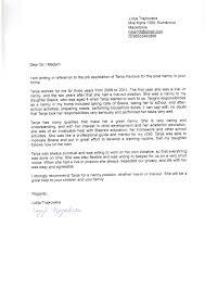 nanny recommendation letter cover letter database nanny recommendation letter