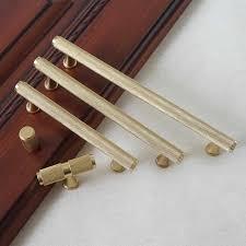 ' 5'' Pure Copper <b>Cabinet Handles Gold Brass</b> T Bar <b>Pulls Drawer</b> ...