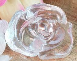 clear crystal quartz 92 ct quartz rose hand carved figurine feng shui health and wellnes stress relief figurine worry stone angle feng shui