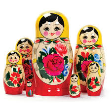 russian dolls russian boxes