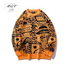 <b>RLJT</b>.<b>JIN 2019 New</b> Winter oversize plain color Japanese sweater ...