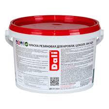 <b>Краска</b> фасадная <b>резиновая акриловая Dali</b> серая 3 кг