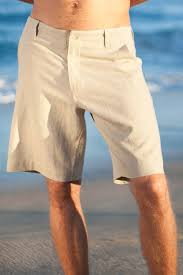<b>Men's</b> Linen <b>Casual</b> White <b>Beach Shorts</b> - Island Importer