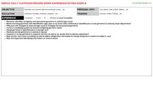 vault custodian resumejpg image format   vault custodian resume