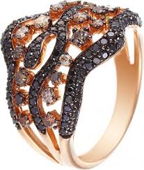 <b>Кольцо с 157 бриллиантами</b> из красного золота, Джей ви - купить ...