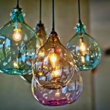 colorful blown glass lighting artisan blown glass lamps