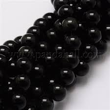 Wholesale Natural Obsidian Round Beads Strands, <b>6mm</b>, Hole ...