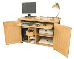 aston oak hidden home office aston solid oak hidden