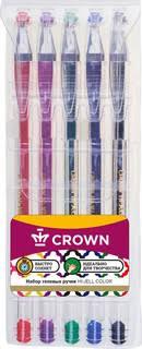 <b>Набор гелевых ручек Crown</b> Hi-Jell Color, 5 цветов. Купить ...