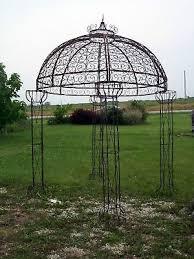 <b>Wrought</b> Iron Round Flower Arbor, Garden Gazebo Trellis - Pergola ...