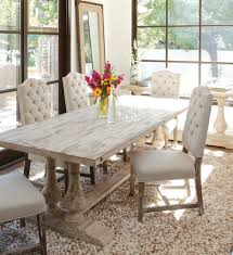 Dining Room Chairs White Dining Room Sets With Upholstered Chairs White Distressed Dining