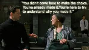 oracle neo meeting matrix reloaded movie | Movie Quotes | Pinterest