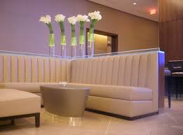 tru custom fabrication of channel back banquettes throughout the club channel tufted furniture