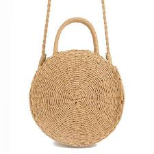 <b>2019 Women</b> Fashion Beach <b>Straw Woven</b> Messenger Bags Lady ...