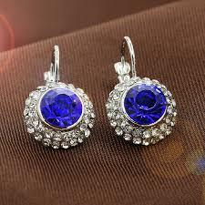 קנו עגילים   LNRRABC Alloy Round <b>Fashion</b> Jewelry Wedding ...