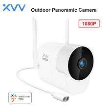 <b>Xiaovv</b> Outdoor Camera Panoramic <b>Webcam 1080P</b> 150° Wide ...