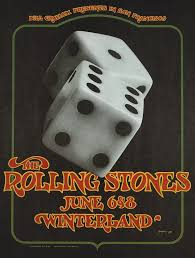 The <b>Rolling Stones</b> Vintage Concert Poster from Winterland, Jun 6 ...
