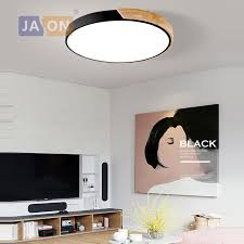 <b>LED Modern Iron Acryl</b> Colorized Round 5cm Super Thin LED Lamp ...