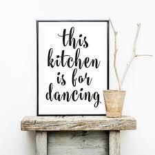 <b>Minimalist</b> This Kitchen is For <b>Dancing</b> Canvas Painting <b>Black White</b> ...