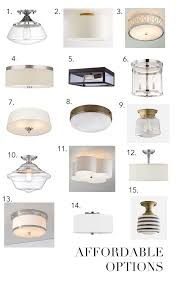 flush mount ceiling light ob