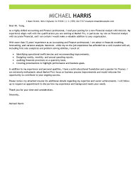 financial cover letter template financial cover letter