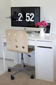 ikea micke computer desk white with jules swivel chair from ikea minimalist workspace chic ikea micke desk white