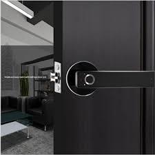 Safety Zinc Alloy Smart Electric <b>Fingerprint</b> Handle Door Lock for ...