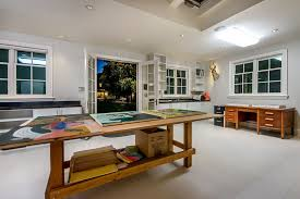 atherton art home example of a trendy home studio design in san francisco art deco office contemporary