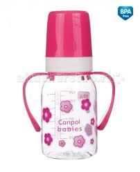 <b>Бутылочка</b> Canpol <b>тритановая с ручками</b> 120 мл 11/821 ...