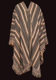Poncho Cuyano with <b>white stripes</b> - Unknown artisan — Google Arts ...