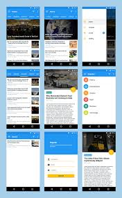 android material ui template by dream space codecanyon 5 preview news app
