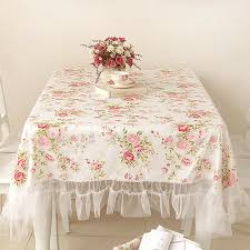 Tablecloth For Dining Room Table Shabby Chic Rose Tablecloth Floral Vintage Table Settings Lace