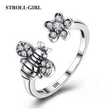 <b>Strollgirl Authentic</b> 925 Sterling Silver Lovely Animal Little Bee Ring ...