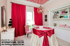 room red color bright color combinations with red color in the interior red curtains for kid