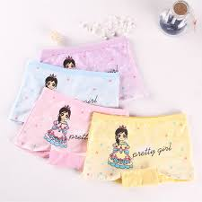 4 <b>Pieces lot</b> New Design <b>Children</b> Girl <b>Panties</b> Cotton Soft Pretty ...