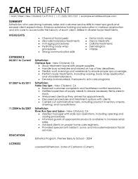 salon spa fitness resume examples salon spa fitness esthetician resume example