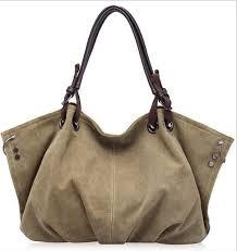 Women Fashion <b>Canvas Handbags Retro</b> Large Capacity Female ...