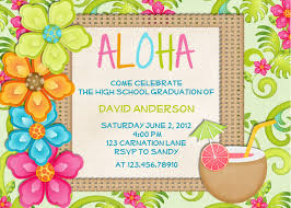 luau birthday party invitation templates