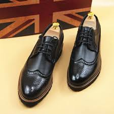 Mens Wing Tip <b>Business Leather</b> Shoes Oxfords <b>Dress</b> Formal ...