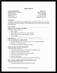 resume objective examples for recent college graduates sample college student resume objective resume college student