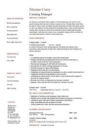catering manager cv template  food preparation  job description    buy this cv
