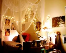 How to hang up christmas lights in a bedroom